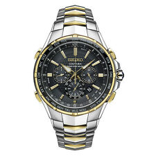 Seiko SSG010 Men's Solar Chronograph Coutura Two-Tone Stainless Steel Watch