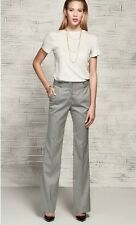 BNWT ZARA GREY SLIM LONG STRAIGHT LEG SMART TALL WORK TROUSERS LADIES XS 6 Z154
