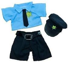 """8"""" BLUE POLICEMAN POLICE BEAR & HAT TEDDY CLOTHES FITS 8""""-10"""" (20CM) TEDDY BEARS"""
