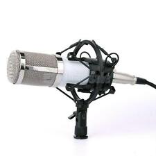 White Ribbon Microphone Professional Studio Sound Recording w/ Boom Stand
