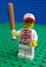 Lego Baseball Player minifig Bat Town City Sport 8803 Minifigures Series 3