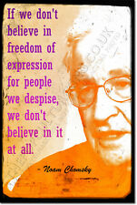 """NOAM CHOMSKY ART PRINT PHOTO POSTER GIFT """"FREEDOM OF EXPRESSION"""""""
