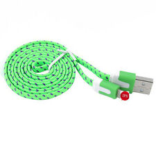 1/2/3M Hemp Rope Braided Flat Charger Data Sync Cable For iPhone 5 5S 6 6 Plus