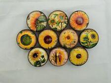 Set of 10 Sunflower Cabinet Knobs Drawer Knobs Kitchen Knobs