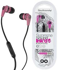 Skullcandy S2IKDY-133 PINK/BLACK INKD 2.0 In-Ear Headphones w/Mic / Brand New