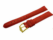 # L242 # FORTIS SWISS MADE UHRENARMBAND LEDER BRACELET LEATHER 14/12 MM ROT