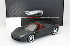Ferrari 458 Italia Spider Year 2011 matte black / dark red 1:18 HotWheels Elite