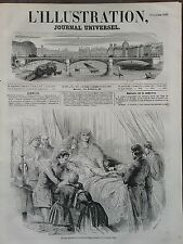 L' ILLUSTRATION 1850 N 399  DERNIERS MOMENTS DE LA REINE DES BELGES, A OSTENDE