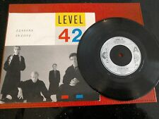 """Level 42......Lessons in Love.....1986 7"""" Single Picture Sleeve"""