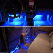 4 LED Car Interior Decorative Floor Light Lamp Auto Cigarette Lighter Blue Light