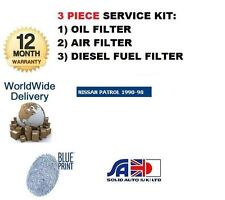 FOR NISSAN PATROL EUROPE 2.8D 2.8TD 260 A428T 1989-  NEW OIL AIR FUEL FILTER KIT