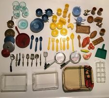 Lot of 73 Vintage Doll House Items-Dishes, Utensils, Food  Irwin & Superior