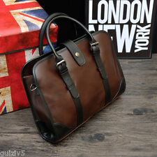 Mens Briefcase Trendy Brown Leather Handbag Messenger Bag Shoulder Laptop Bags