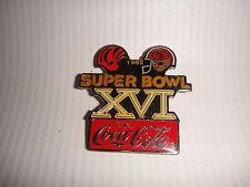 Coca-Cola Super Bowl XVI Metal Collectors pin 1982 San Francisco 49ers & Bengals