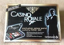Exclusive James Bond 007 Luxury Poker Set Cards and Chips Casino Royale OOP