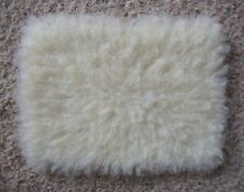 1:12 scale Cream Fur Rug for dolls house