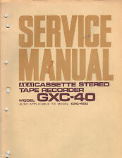 AKAI Service Manual Model GXC40 d parts list stereo cassette tape deck recorder