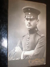 Cdv old photograph soldier by Plathen at Leipzig Germany c1910s