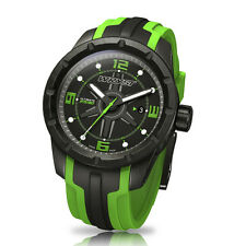 Green Swiss Sport Watch Wryst Ultimate ES30 Black DLC Coating Limited Edition
