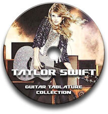 TAYLOR SWIFT POP ROCK GUITAR TABS TABLATURE SONG BOOK SOFTWARE CD