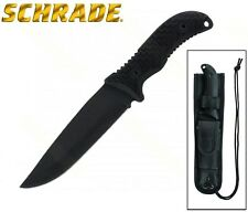 Schrade - FRONTIER Fixed Blade Knife Full Tang Drop Point w/ Sheath SCHF38 New