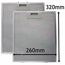 2 x Metal Mesh filter For CATA B&Q Cooker Hood Vent Filters 320 x 260 mm