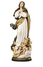 Statua  Assunta del Murillo  cm 35 - In legno scolpita a mano - Foglio oro