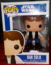 Funko Pop! Star Wars Han Solo 03 *RETIRED* Vaulted *VHTF* Blue Box SERIES 1