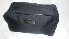 ERMENEGILDO ZEGNA Aftershave Small Square Black Toiletry / Wash Bag For Men