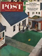 1952 Saturday Evening Post September 27-Rock Hudson;House in the Congo;Bass Horn