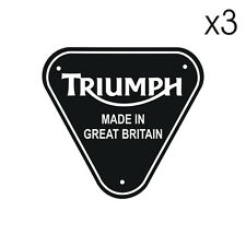 3 Stickers Triumph MADE IN GREAT BRITAIN - 5cm x 5cm