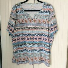 LADIES PLUS SIZE TUNIC TEE SHIRT TOP FROM BONMARCHE - SIZE 22/24