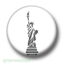 Statue Of Liberty 1 Inch / 25mm Pin Button Badge United States America Landmark