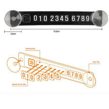 Cool Parking Card Magnetic Phone Number Card Plate Sucker Temporary Car Sticker