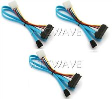 3x 7 Pin SATA Serial to SAS 29 Pin & 4 Pin Connector Power Cable Lead 70cm