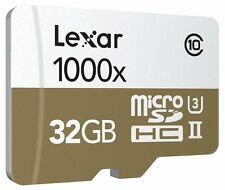 Lexar Professional 32GB 1000x Class 10 microSDXC UHS-II/U3 4k Flash Memory Card