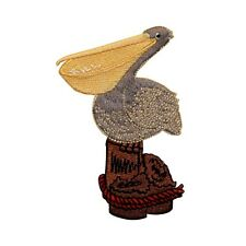 ID 0502 Pelican Bird Embroidered Iron On Applique Patch