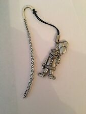 Clown PP-G10   Pattern bookmark with cord 3D English pewter charm