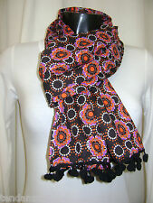 """NEW"" TRANSAT BOUTIQUE CHECHE ECHARPE FOULARD ""KALIYOG"" NOIR COLORE"