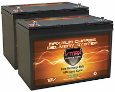 Solar PV Wind qty2 VMAX SLR100 AGM Hi Cap Maint Free Deep Cycle 200AH Batteries