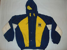 STARTER NOTRE DAME Vintage Jacket COLLEGE FOOTBALL XL X-Large 90's 1/2 Zip RARE