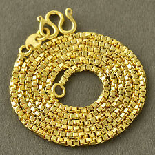 17.7 Inch 9K Yellow Gold Filled Box Womes Chain Necklace,Z4589
