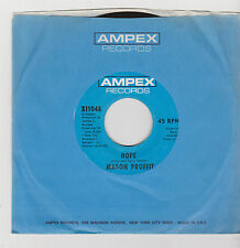 "7"" MASON PROFFIT HOPE AMPEX RECORDS X11048 U.S.A. JEWEL"