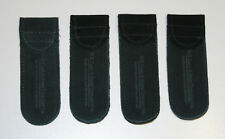 Lot of 4 Case XX Black Suede Leather - Folding Pocket Knife Sheath / Pouches MD