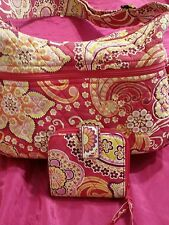 VERA BRADLEY BEAUTIFUL PC  SHOULDER BAG AND WALLET TO MATCH