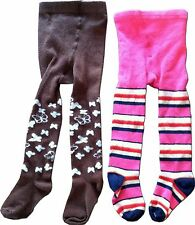 Lot of 2 OLD NAVY Toddler Baby Girls Tights Stockings Pink Butterfly, 12-24 M