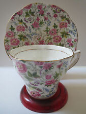 ROSINA BONE CHINA - CHINTZ - TEACUP AND SAUCER - GOLD TRIM