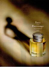 Publicité Advertising 1992  Parfum  Ines de la Fressange eau de parfum PARIS