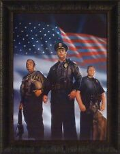 TO PROTECT AND SERVE by CHARLES FREITAG 22x28 FRAMED PRINT Police Sheriff Cops