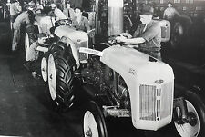 "Ford Tractor 8N Assembly Line 12X18"" Black & White Picture"